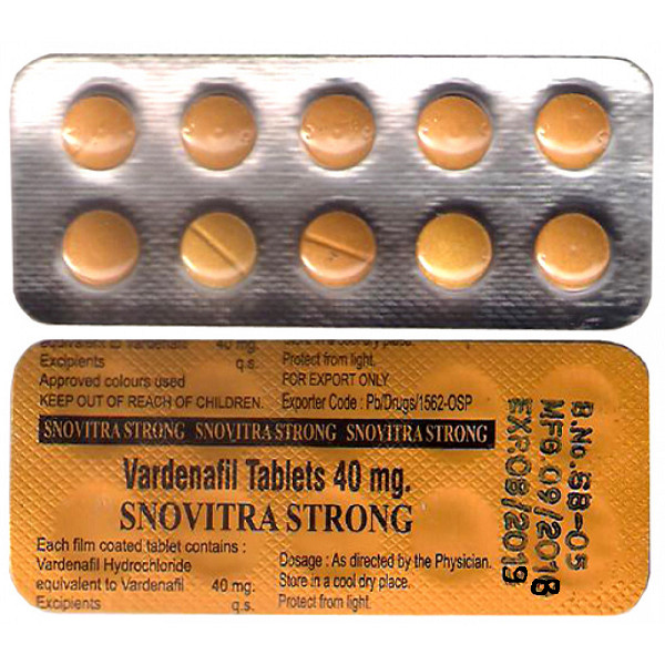VARDENAFIL buy in USA. Snovitra Strong 40mg - price and reviews